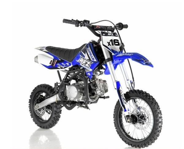 Apollo DB-X16 125cc RFZ Fully Automatic Kick Start Racing Dirt Bike, 4  stroke Single Cylinder
