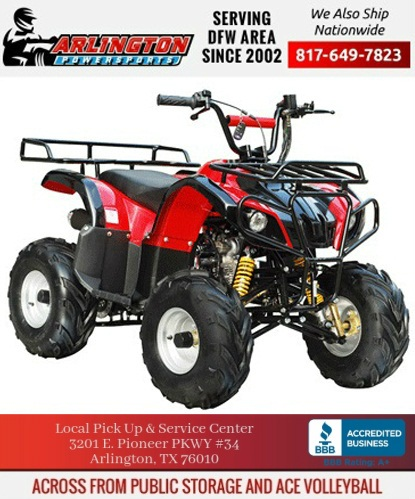 SMALL ATV 110CC D1 W/ REAR AND FRONT RACK REMOTE KILL AND START & MORE
