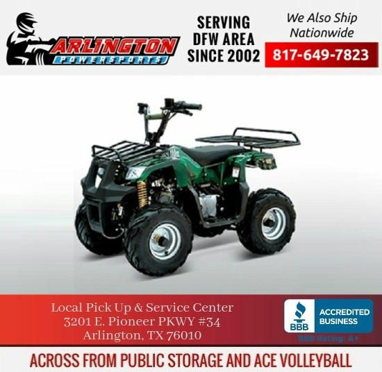ATV 110CC F1 with REAR and FRONT RACK REMOTE KILL and START & MORE