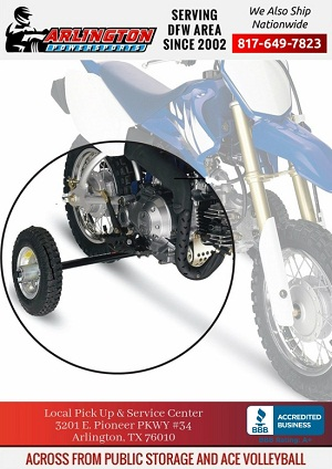 training wheels for 70cc pit bikes