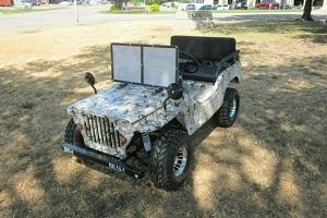 RPS Jeep Off-Road 125cc Mini Go-Kart With Chrome Rims