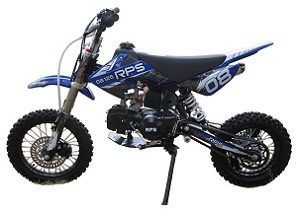 RPS EGL-08 125cc Dirt Bike, Manual 4 Speed Transmission, Single Cylinder, Air Cooled