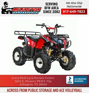 SMALL 110D (ATV 110CC W/ REAR AND FRONT RACK REMOTE KILL AND START & MORE) (PRE-ORDER)